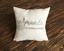 Name Initials Pillow Covers. Arrows Pillowcase. Personalized Name Pillow vm52