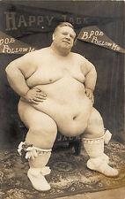 "Logan WV BPOE Elks ""Happy Jack"" World's Prize Fat Man 739 Pounds RPPC Postcard"