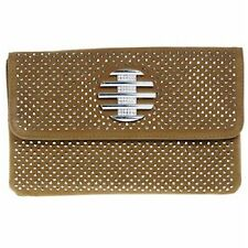 Equilibrium Brown Diamante Clutch Bag