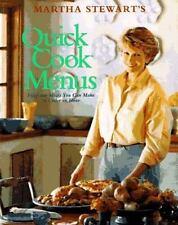 EXC÷COOKBOOK:MARTHA STEWART QUICK EASY COOK BOOK 52 MENUS-BUSY PEOPLE-UNDER 1 HR