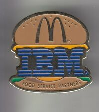 RARE PINS PIN'S .. INFORMATIQUE ORDINATEUR COMPUTER IBM FRANCE MC DONALD'S ~CZ