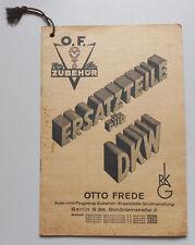Zubehör Katalog Preisliste Ersatzteile für DKW Otto Frede Berlin um 1935 ! (H7