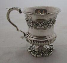 Antique Georgian Sterling silver christening mug, 1822, 149 grams