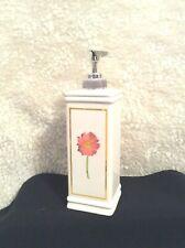 Hand Soap Dispenser w/Pump Orange Floral