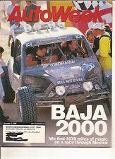 Autoweek Dec 11, 2000 - Baja 2000 - Ford Focus ZX3 - Volvo S80 T6 - Toyota MR2