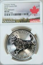 2018 Canada Silver $5 Predator Series Wolf Ngc Ms 69 Early Releases Beautiful