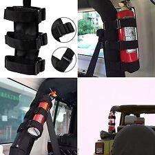 Auto Car Fire Extinguisher Fixing Holder Belt For Automobile Jeep Wrangler Black