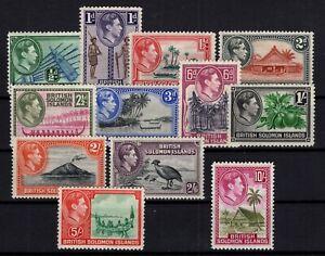 DT144795/ BRITISH SOLOMON ISLANDS / SG # 60 / 65 - 67 / 72 MINT MNH – CV 140 $