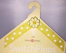 New Yellow & Flower Switch Flops Lindsey Phillips Size S 5-6 Faith Design