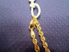 Twisted Rope Chain in 14 k solid yellow gold