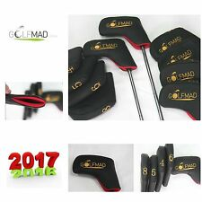 10 Golf Mad PU Iron Covers Golf Headcovers for ping Titleist Cobra Nike ONLY