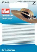 Prym Goldzack Elastic-Kordel 3 m Ø 1,5 mm Hutgummi Bastelgummi weiß 971065