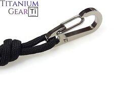 Titanium 35mm Carabiner Ti Keychain! EDC Snap Hook TC4 Spring Clip Key Ring USA