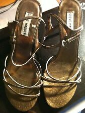 Steve Madden Shoes Size 9 Women's Strap Heels Copper Colored Open Toe 3 inch