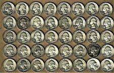 1944 - 1964 P/D/S Washington Head .900 silver quarter dollar 40 coin roll
