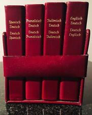 4 Langenscheidt Edition Wörterbücher in ledergebundenen von 1983