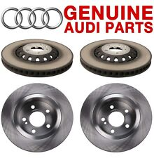 Genuine Front and Rear Vented Disc Brake Rotors Kit For Audi Q7 Q8 A8 Quattro