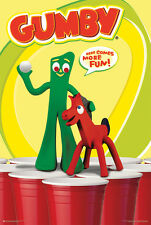 BEER PONG WITH GUMBY POSTER (61x91cm)  PICTURE PRINT NEW ART