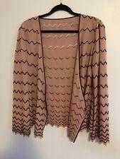 Missoni Mauve Chevron Knit Cardigan FLAWED Wool Rayon Sz 40 US 4