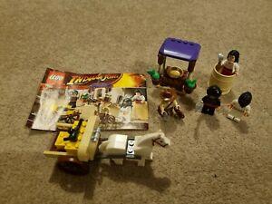 Lego Indiana Jones Ambush In Cairo Complete Set Minifigures & Instructions 7195