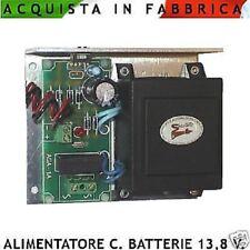 Alimentatore Carica Batterie Stabilizzato 13,8 V. 1 A Ricamb. Centrali Antifurto