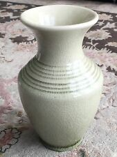 Antique 7 Inch (18cm) Tall Thai Celadon Crackle Glaze Vase In Perfect Condition