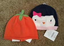 Lot of 2 items! 2 New Gymboree Girl's Knit Hats, Size 6-12months