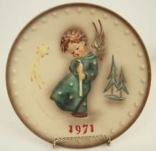 1971 FIRST EDITION M.I. HUMMEL ANNUAL COLLECTOR PLATE HEAVENLY ANGEL #264