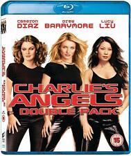 CHARLIE'S ANGELS 1 & 2 [Blu-ray] w/ Full Throttle 2-Pack Cameron Diaz, Lucy Liu