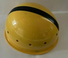 Vintage Msr Resin Hard Hat Cap Style Adjustable, yellow, caving, rock climbing
