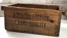 Antique Dovetail Wooden Box PHOENIX NEVERSLIP CALKS Primitive Decorative Rugged