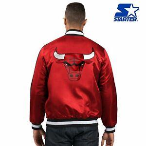 STARTER Chicago Bulls Original [LSD30061] SATIN Red Black White Medium Jacket