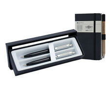 Sheaffer Sentinel Ballpoint Pen/Pencil Set - Black Nickel Trim with Notebook
