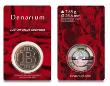 Unfunded DENARIUM BITCOIN ~ Physical Coin Like Casascius ~ Load Your Own BTC