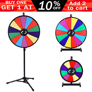 "24""/15"" Round Multi Color Prize Wheel Spinning Dry Erase Carnival Party Game"