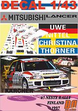 DECAL 1/43 MITSUBISHI LANCER EVO III UWE NITTEL R.FINLAND 1997 7th (01)