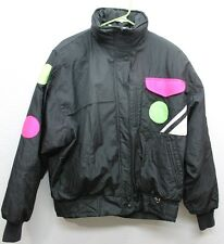 Vintage Obermeyer Sport Three Ring Insulated Women's Ski Jacket Size 14 Black L