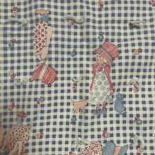 vintage holly hobbie Style Quilt crib toddler cottagecore farmhouse core blue