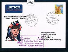 65054) LH FF Donezk Ukraine - München 9.9.2005, sp card