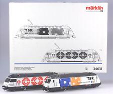Märklin HO #34631 Swiss Re460 Television Electric Locomotive Set, N/BX 1998 only