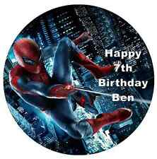 "Spiderman Personalised 7.5"" Cake Topper Edible Wafer Paper"