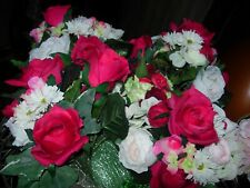 New ListingFour Bouquets Of Silk Flowers-Roses & More-#Y40