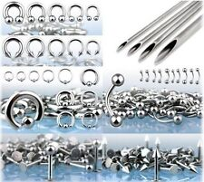 400pcs Pro Body Piercing Jewelry Starter Kit 14g 16g Needle Wholesale Ear