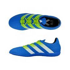 Adidas Ace 16.3 IN Indoor Soccer Shoes Size 13 # AF5180 Shock Blue Slime Wh