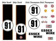 #91 Carroll Shelby Essex Wire Cobra 1965 1/64th HO Scale Slot Car Decals