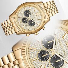 NEW Michael Kors MK8494 Lexington Gold-Tone Stainless Steel Bracelet Men's Watch