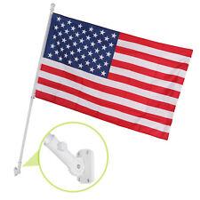 6 Ft White Tangle Free Spinning Aluminum Flagpole Flag Pole w/ 3'x5' US Flag