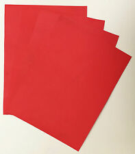 VEG-TAN LEATHER PIECES OF SHEEPSKIN, CRAFT PACK 4 @ 20CM X 15CM LIPSTICK RED 1mm