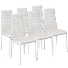 6x Sillas de comedor Juego elegantes sillas de diseño modernas cocina blanco