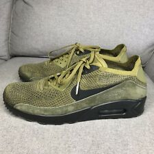 bcd25a1f38 Nike Air Max 90 Ultra 2.0 Flyknit Olive Geen Black 875943-302 Mens Size 10.5